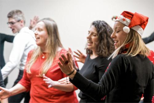Concert chorale d'entreprise Noël